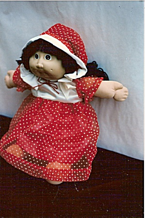 Cabbage Patch Red Dotted Swiss Doll Dress And Hat