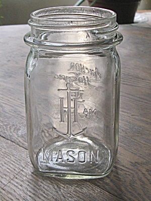 Vintage 1930 Anchor Hocking Pint Mason