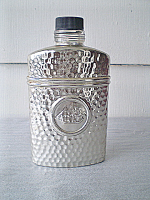 Old Spice Silver Coated Admirals Flask 1988