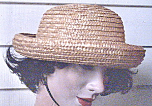 Straw Hat Vintage Medium Brim