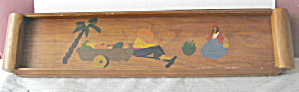 Kitchen Collectible 1939 Mexican Wooden Drink Tray