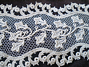 Needle Lace Vintage Hand Detailed Machine Embroidered