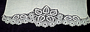 Needle Lace Trim Vintage Off White Handmade