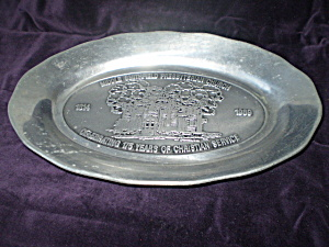 Pewter Steak Plate Church Memorabilia