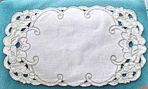 Doily Vintage Irish Linen Cutwork