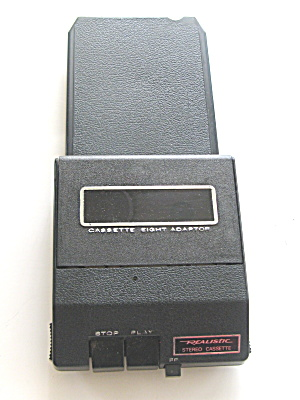 Portable 8 Track Adaptor To Cassette Player