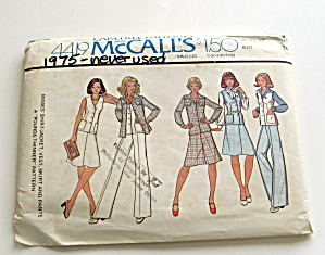 Vintage 1975 Suit,jacket,skirt, Slacks And Vest Pattern