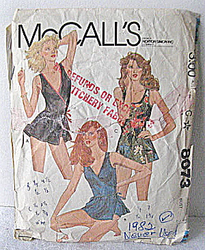 Vintage 1982 Mccall's 2 Style Bathing Suit Pattern