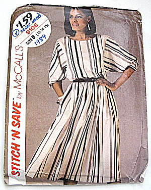 Vintage Mccall's 1984 Fall & Winter 2 Pc Dress Pattern