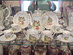 Rs Prussia Scenic Child's Tea Set