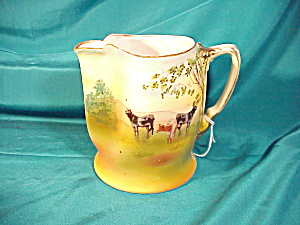 Royal Bayreuth Milk Pitcher W/cattle