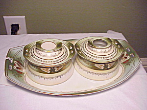 Rs Prussia Tillowitz Art Deco Dresser Set