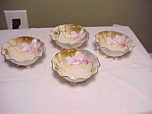 Rs Prussia (Um) Footed Nut Dishes Four
