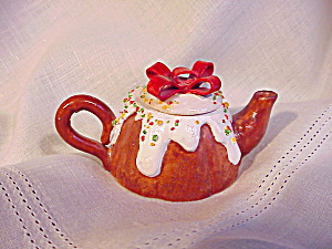 Childs Tea Pot/ceramic Toy With Xmas Motif