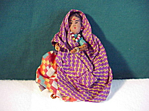 Delicate String Doll With Sari And Jewels