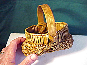 Miniature Buttocks Basket/good Patina