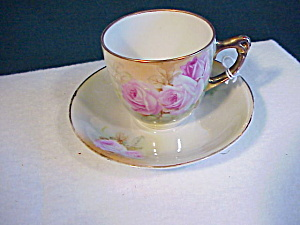 Royal Bayreuth (Blue Mark) Small Cup/saucer