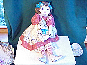 Adorable Cloth Doll With Lamb