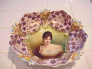 Rs Prussia Lily Mold Bowl In Bowl Racamier