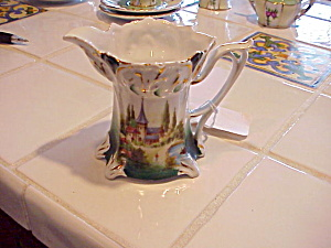 Rs Prussia Creamer With Castle Motif