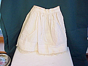 Antique Doll Petticoat With Tucks/lace