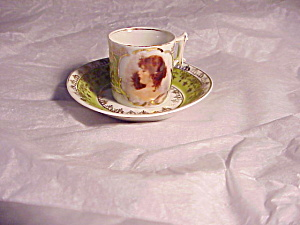 Rs Prussia Portrait Mini Cup And Saucer