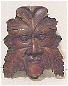 Wooden Architectural Mythical Face