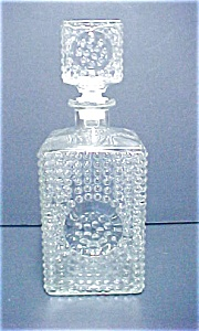 Hobnail Glass Decanter