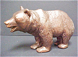 Brass Grizzly Bear Sculpture
