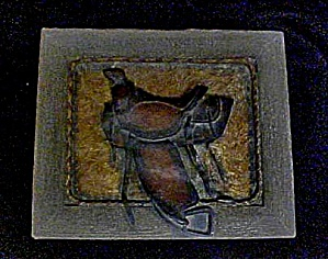 Western Accessory Saddle Decorated Box