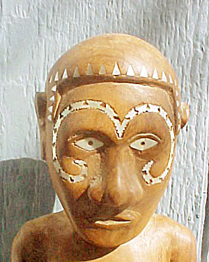 Solomon Islands Pregnant Woman Carving