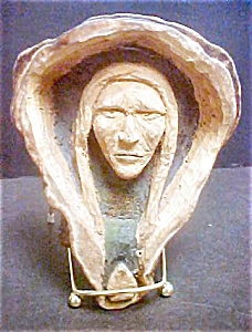 Unusual Native American Carving Of Male