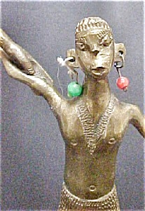 Brass Tribal Male Figure