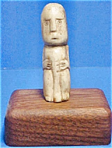 20th Century Bone Ancestor Figure From Lombok