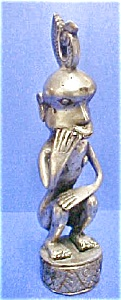Silver/nickel Plated Bronze Figure - Timor