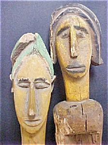 Pair Of Bamana Puppets - Mali, Africa