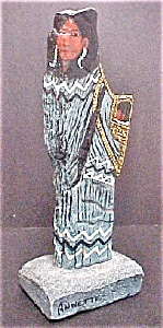 American Indian Female Figure - Signed