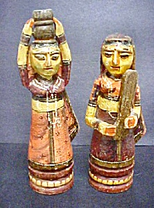 Pair Of Asian Indian Ladies - 20th Century