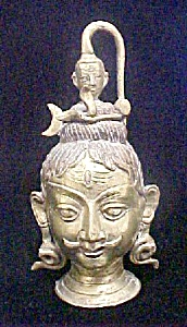 Asian Indian Male Brass Finished Head