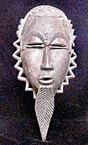 Wooden Male African Mask
