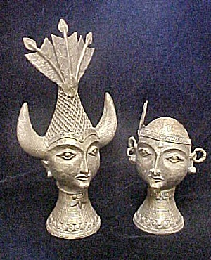 Sculpture Of Bastar, India Couple