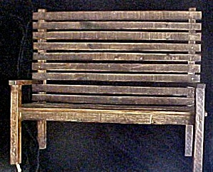 Wood Slat Doll's/bear Primitive Bench