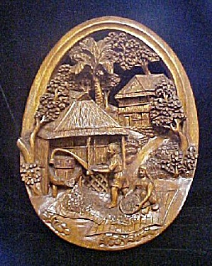 Old World Relief Carving Harvesting