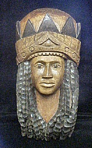 Jamaican Male Wooden Mask W/headdress