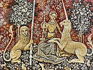 Lady And Unicorn Tapestry - Represents Sight