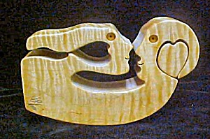 Wood Carving - Man And Woman - Signed