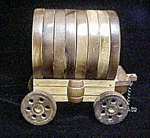 Wooden Covered Wagon Coaster Set