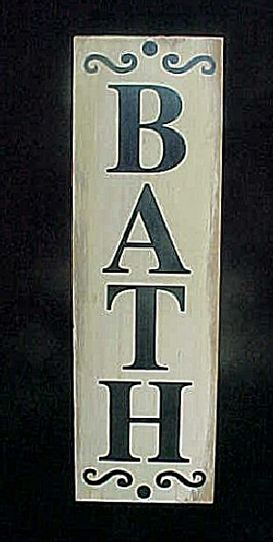 Wooden Bath Sign - Wall Decor