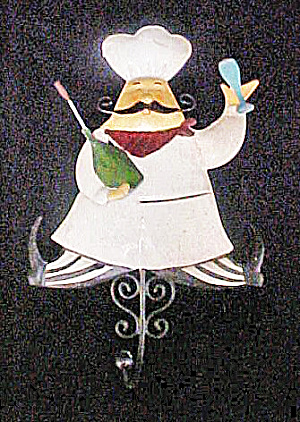 Chef Tin Figural Hook