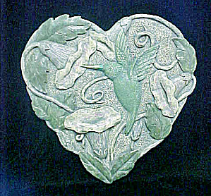 Hummingbird Plaque - Heart Shaped